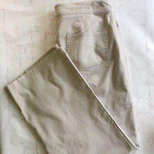 [Eileen Fischer] stretch khaki pants size large